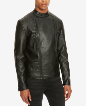 Kenneth Cole Reaction Men's Faux Leather Moto Jacket