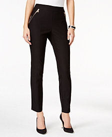 Thalia Sodi Zip-Pocket Skinny Pants, Created for Macy's