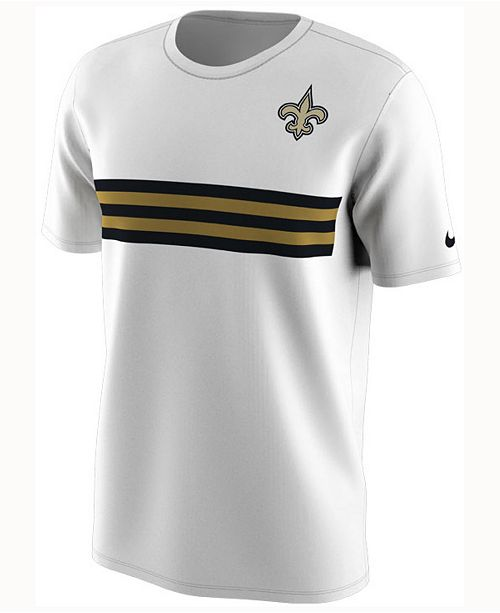 sports shoes b2c4b 98e61 Nike Men's New Orleans Saints Color Rush Stripe T-Shirt ...