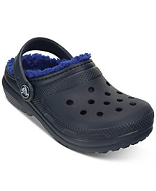 Crocs Classic Clogs with Faux-Fur Lining, Toddler Boys & Little Boys