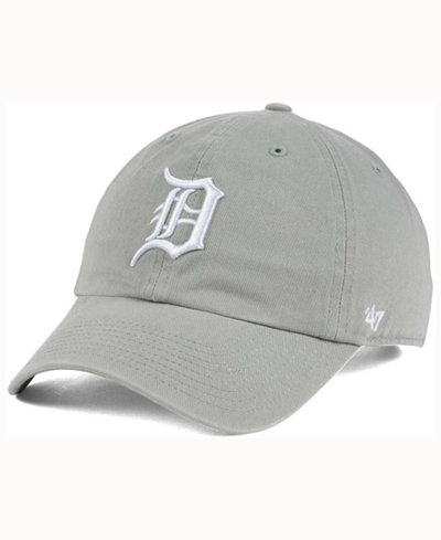 '47 Brand Detroit Tigers Gray White CLEAN UP Cap
