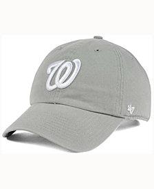 '47 Brand Washington Nationals Gray White CLEAN UP Cap