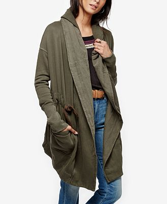 Free People Brentwood Belted Hooded Cardigan