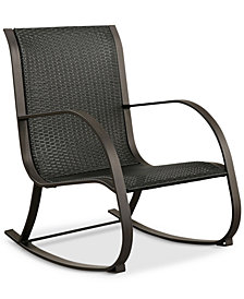 Spencer Outdoor Rocking Wicker Chair, Quick Ship