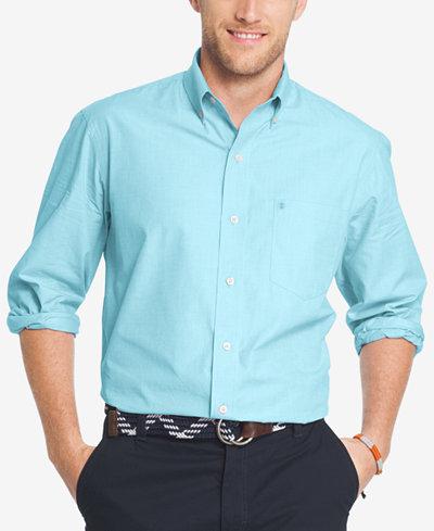 IZOD Men's Essential Poplin Oxford Shirt - Casual Button-Down ...