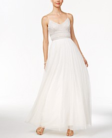 Beaded A-Line Gown