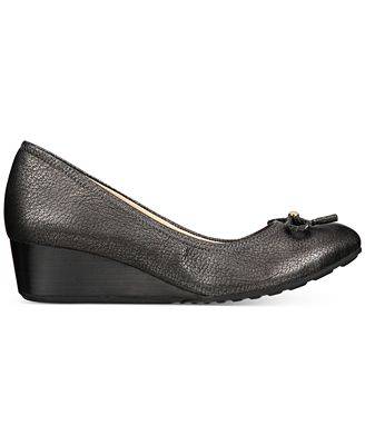 Cole Haan Women's Tali Leather Demi-Wedge Pumps