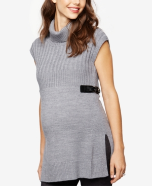 Design History Maternity Sleeveless Turtleneck Sweater plus size,  plus size fashion plus size appare