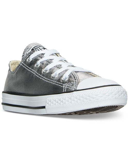 f530079e0e59 Converse Little Girls  Chuck Taylor All Star Ox Metallic Casual Sneakers  from Finish ...