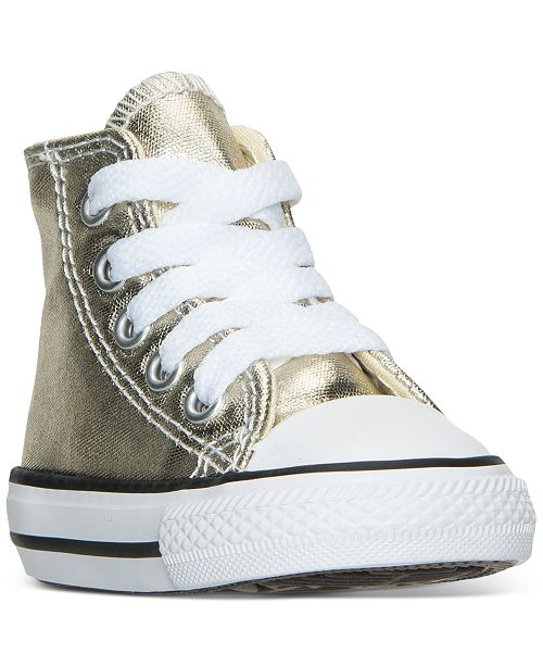 aaa46f7eab3f70 ... Converse Toddler Girls  Chuck Taylor All Star Hi Metallic Casual  Sneakers from Finish ...