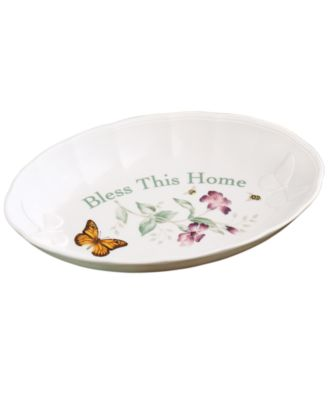 Serveware, Butterfly Meadow Tray Bless This Home