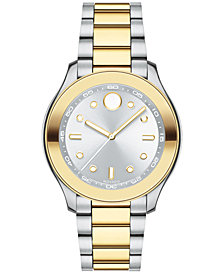 Movado Women's Swiss Bold Two-Tone Stainless Steel Bracelet Watch 38mm 3600418
