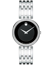 Women's Swiss Esperanza Diamond (1/4 ct. t.w.) Stainless Steel Bracelet Watch 28mm 0607052