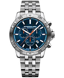 RAYMOND WEIL Men's Swiss Chronograph Tango Stainless Steel Bracelet Watch 43mm 8560-ST2-50001