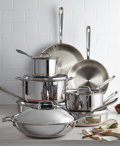All Clad Copper Core 14 Pc Cookware Set Cookware