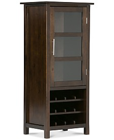 stylist kitchen table with wine storage. Easton High Storage Wine Rack  Quick Ship Home Bar Furniture Macy s