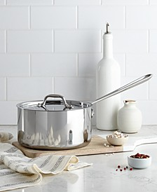 Stainless Steel 3.5 Qt. Covered Saucepan