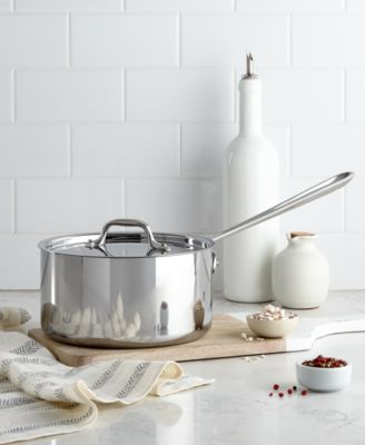 allclad stainless steel 35 qt covered saucepan