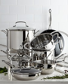 Chef's Classic 14-Pc. Stainless Steel Cookware Set, Created for Macy's