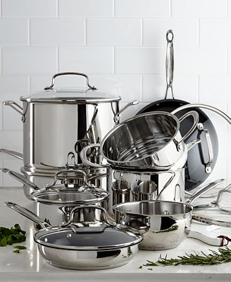 Cuisinart Chef S Classic 14 Pc Stainless Steel Cookware Set