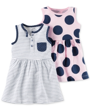 Carter's 2-Pk. Stripes & Dots Dresses, Baby Girls