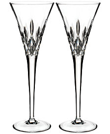 Waterford Lismore Pops Clear Toasting Flute Pair
