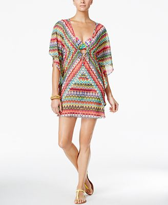 Bleu by Rod Beattie In Living Color Printed Caftan Cover-Up