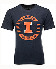 Colosseum Men's Illinois Fighting Illini Circle Logo T-Shirt