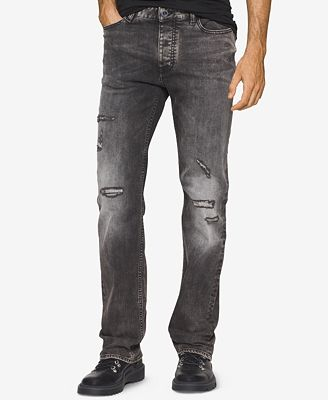 Calvin Klein Jeans Men's Straight-Leg Capri Wash Ripped Jeans ...