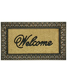 """Bacova Basketweave 23"""" x 39"""" Welcome Doormat"""