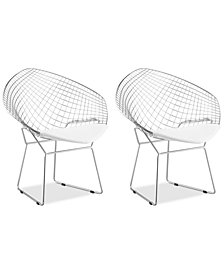 Cozier Set of 2 Dining Chairs, Quick Ship