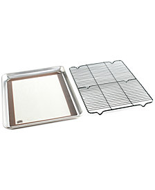 Nordic Ware 3 Piece Cookie Baking Set - 1 by 2 Sheet, Baking Mat, Cooling Grid