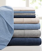 Heathered Cotton Jersey Solid Sheet Sets Bedding