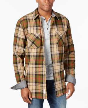 1930s Style Mens Shirts Weatherproof Vintage Mens Big and Tall Twill Plaid Shirt Jacket $34.99 AT vintagedancer.com