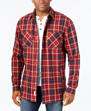 1930s Style Mens Shirts Weatherproof Vintage Mens Big and Tall Twill Plaid Shirt Jacket $29.99 AT vintagedancer.com