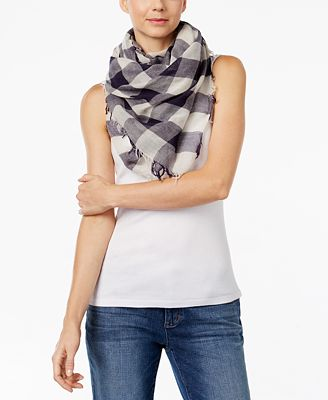 Eileen Fisher Plaid Fringe-Hem Scarf, A Macy's Exclusive