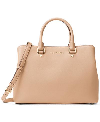 MICHAEL Michael Kors Savannah Large Satchel - Handbags ...