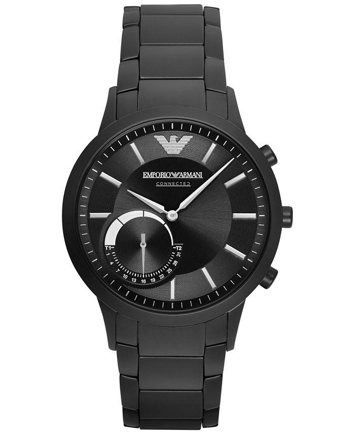 Emporio Armani - Men's Black Stainless Steel Bracelet Smart Watch 43mm ART3001