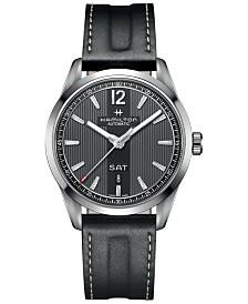 Hamilton Men's Swiss Automatic Broadway Black Calf Leather Strap Watch 42mm H43515735