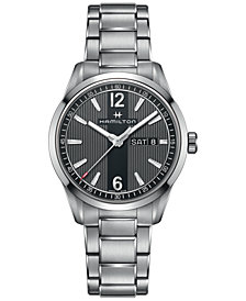 Hamilton Men's Swiss Broadway Stainless Steel Bracelet Watch 40mm H43311135