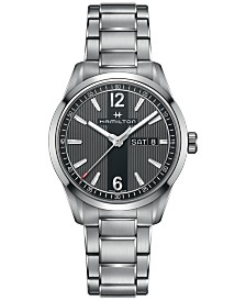 Hamilton Men's Swiss Broadway Stainless Steel Bracelet Watch 40mm H43311135