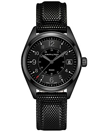 Men's Swiss Khaki Field Black Rubber Strap Watch 40mm H68401735