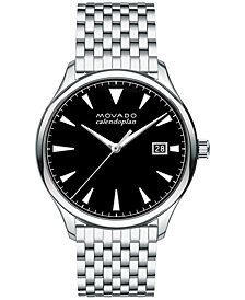 Movado Men's Swiss Heritage Stainless Steel Bracelet Watch 40mm 3650012