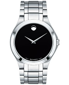Movado Men's Swiss Collection Stainless Steel Bracelet Watch 40mm, Created for Macy's