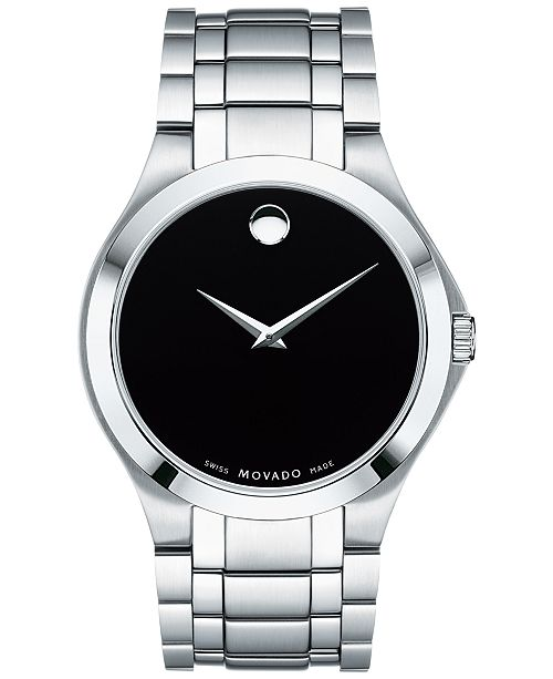 9f4735ebb5fd06 ... Movado Men's Swiss Collection Stainless Steel Bracelet Watch 40mm,  Created for Macy's ...