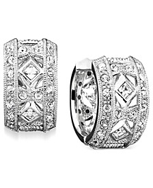 "Crystal Accent 1/2"" Huggie Earrings, Created for Macy's"
