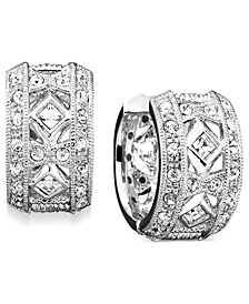 Danori Earrings, Crystal Accent Huggie