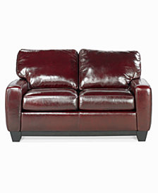 "Hampton 59"" Leather Loveseat"