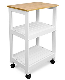 CLOSEOUT! White Kitchen Cart