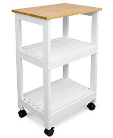 CLOSEOUT! White Kitchen Cart
